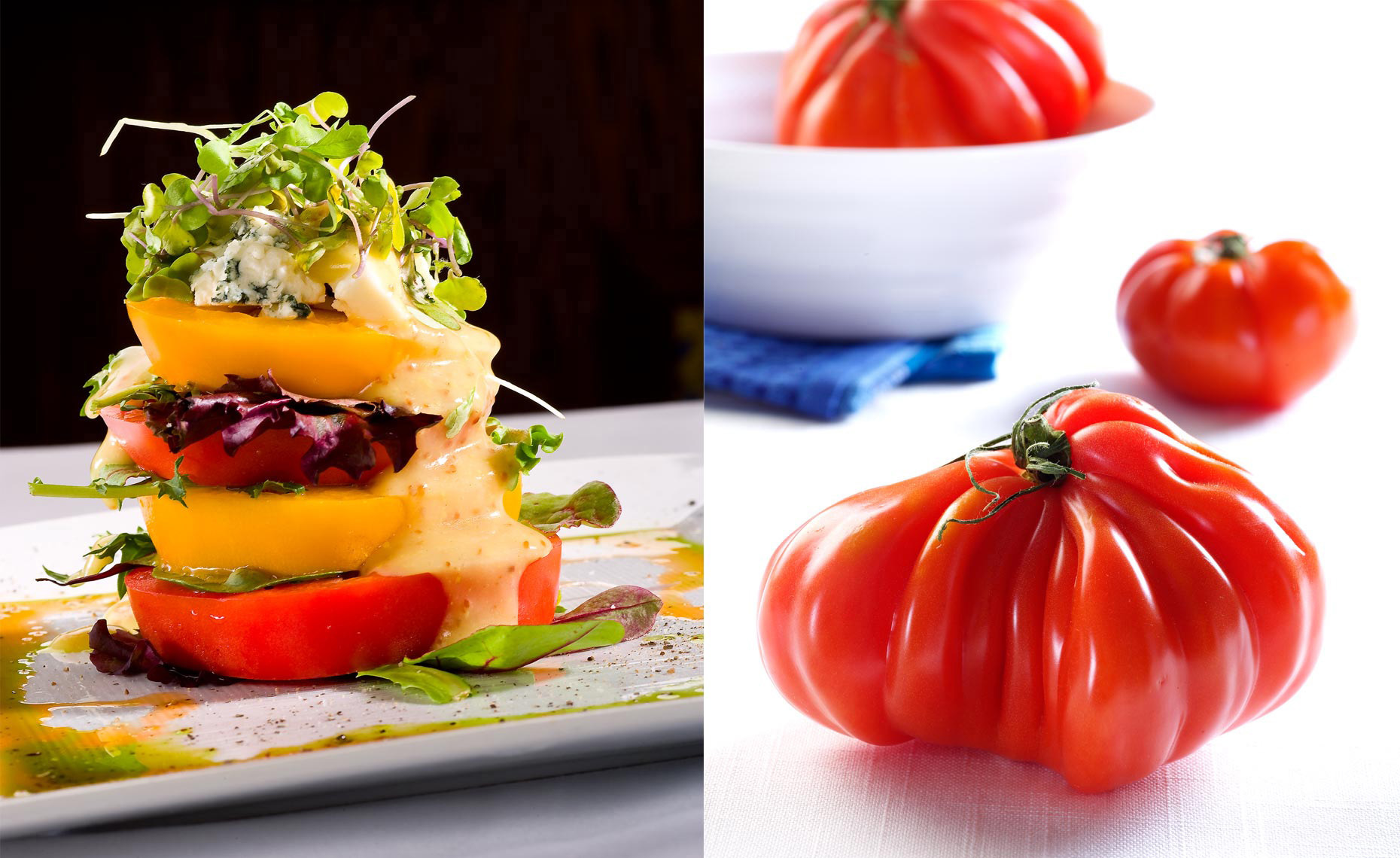 Food Photography | Tomato Stack and Ugly Tomatoes
