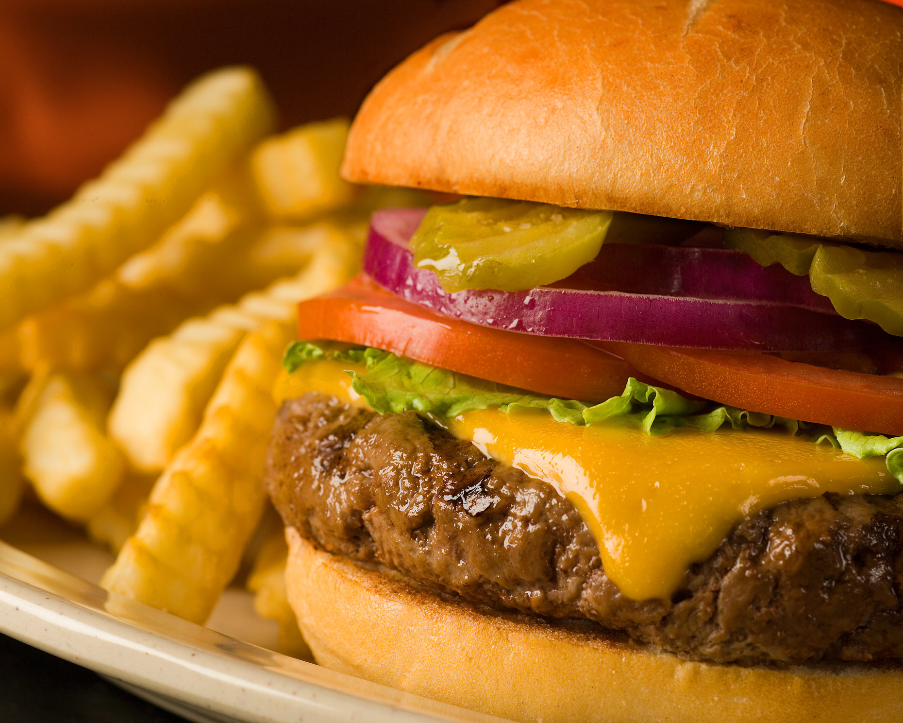 Food Photography | Cheeseburger & Fries
