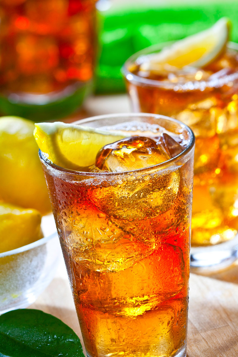 Beverage Photography | IceTea with lemon