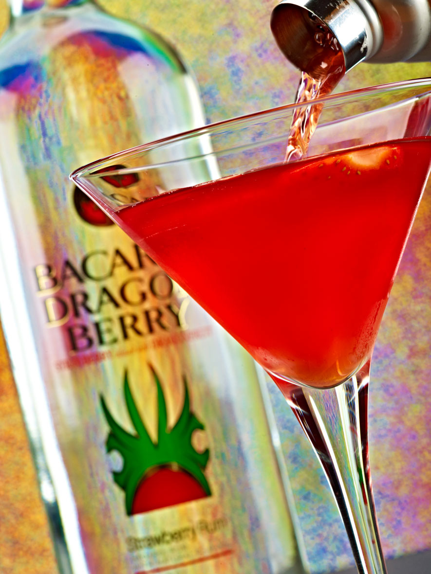 Beverage Photography | Bacardi Berry Martini