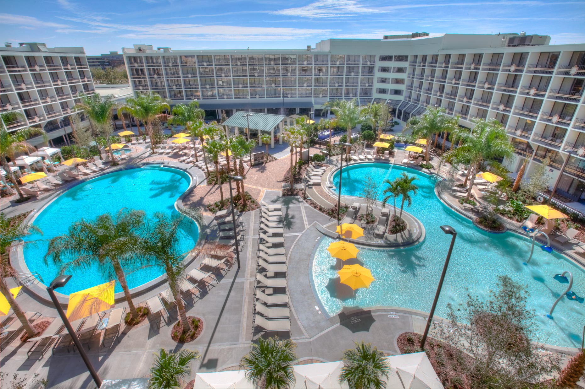 Hotel & Resort Photography | Sheraton Hotel Pool Orlando
