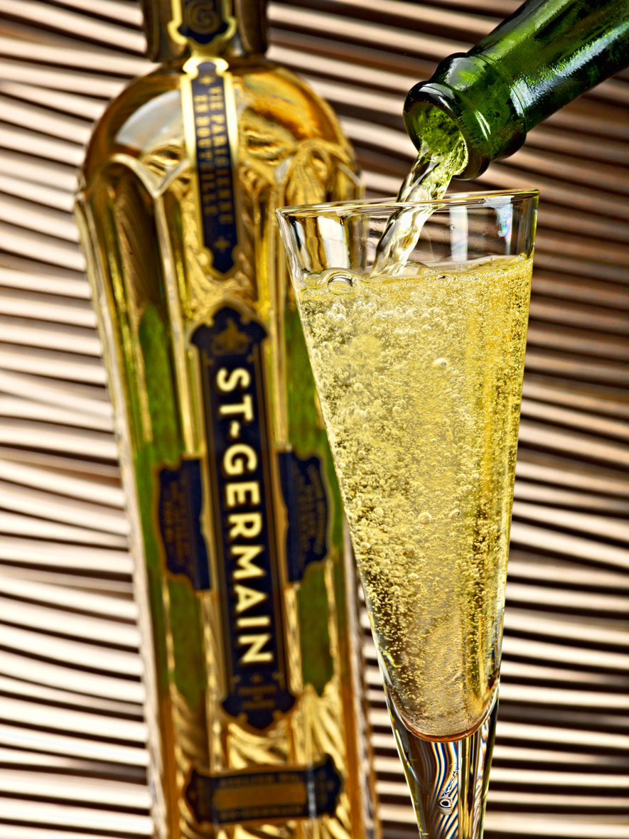 Beverage Photography | St Germain Pour