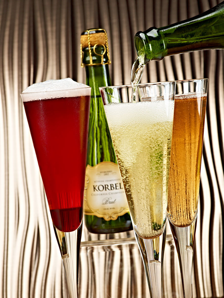 Beverage Photography | Korbel Champagne Pour