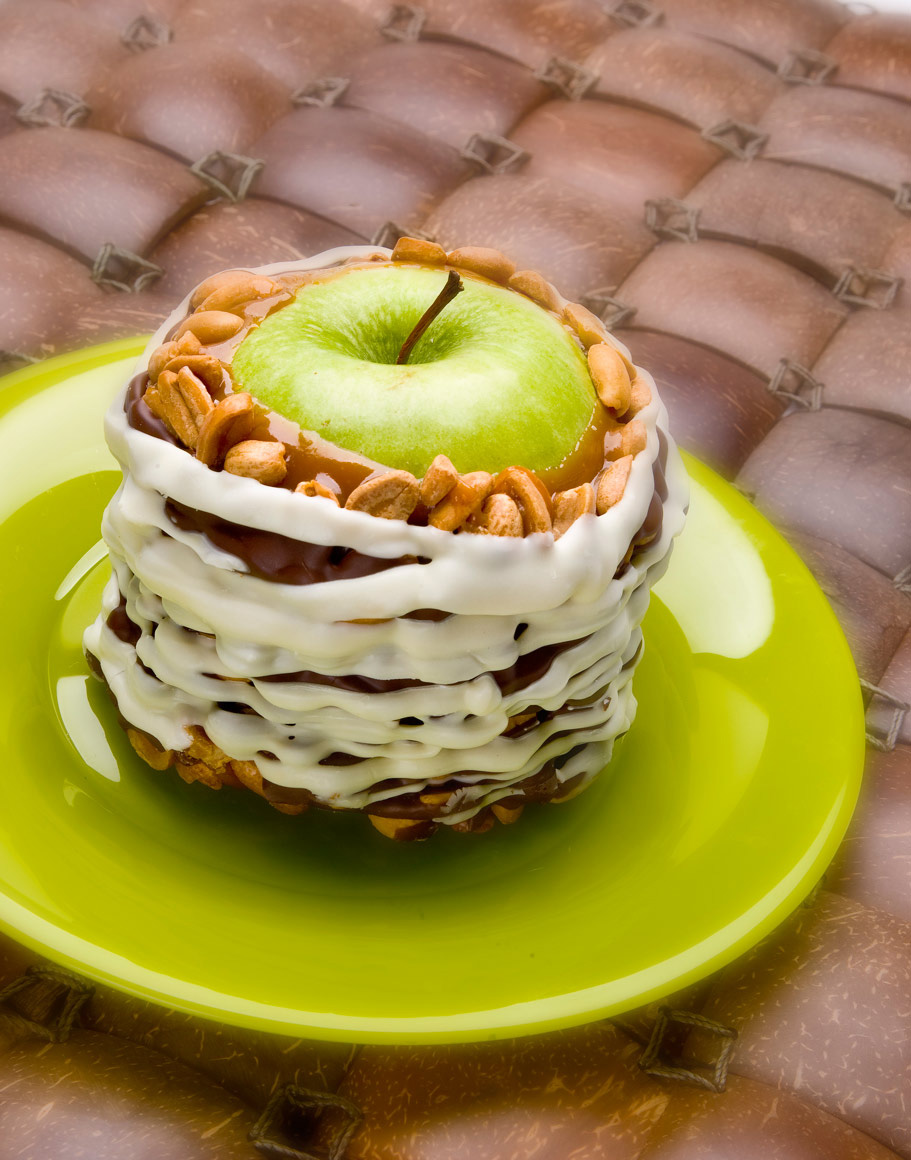 Dessert Photography | Green Apple with frosting