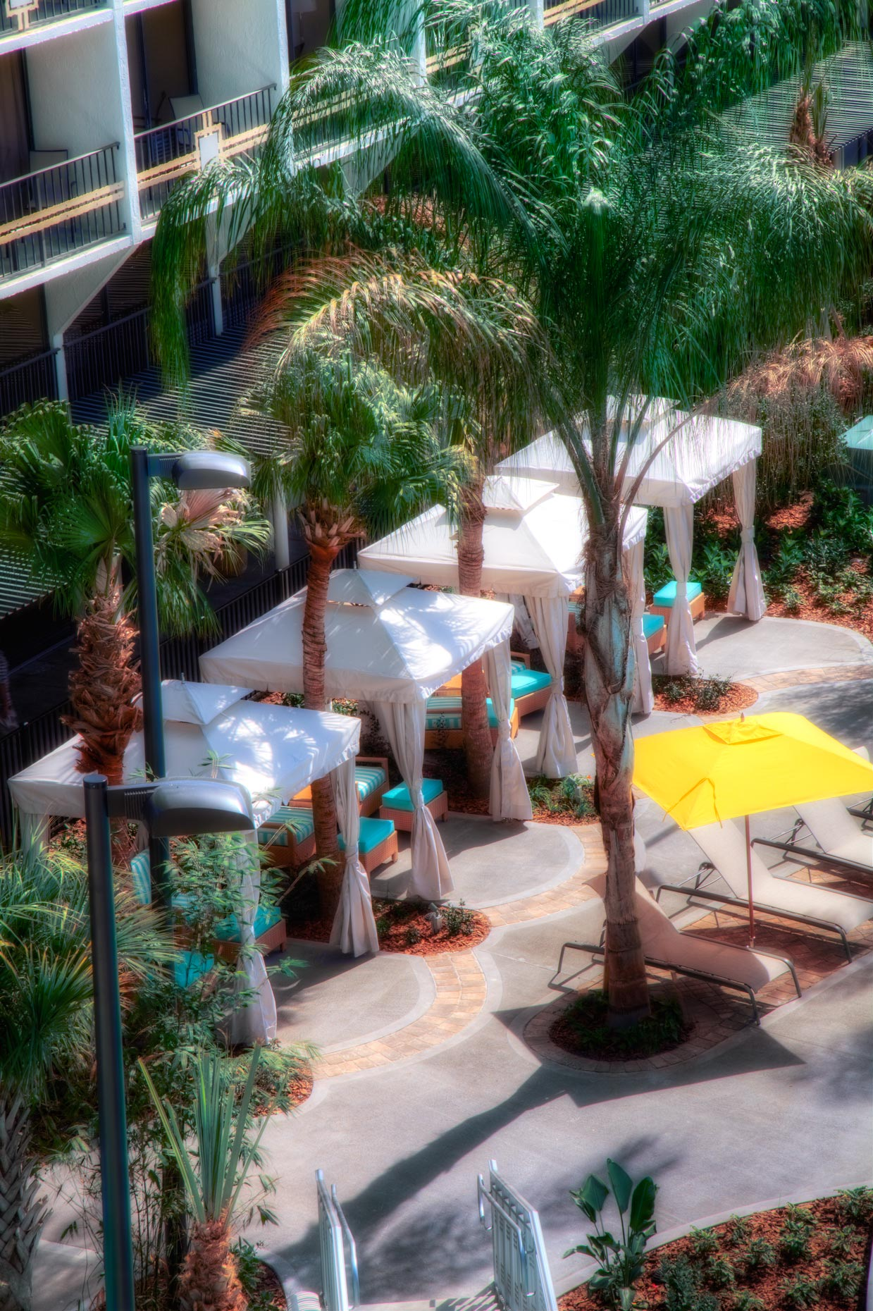 Hotel & Resort Photography | Sheraton Hotel Orlando Pool Cabana