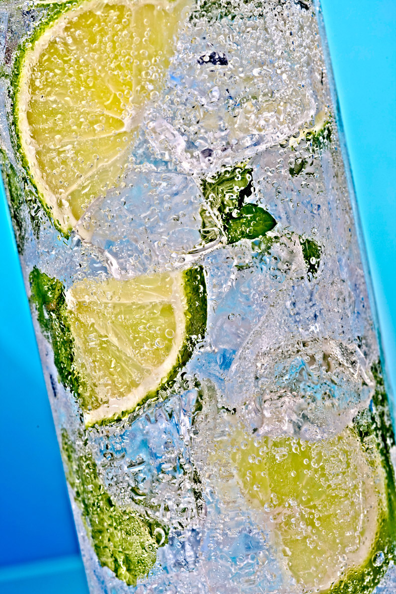 Beverage Photography | Mojito beverage  with lime
