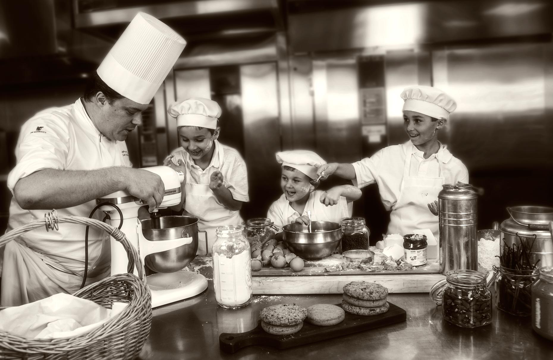 Lifestyle Photography | Chef & Restaurant Photogrpher | Hotel Photographer | Chefs & Kid Chefs making cookies