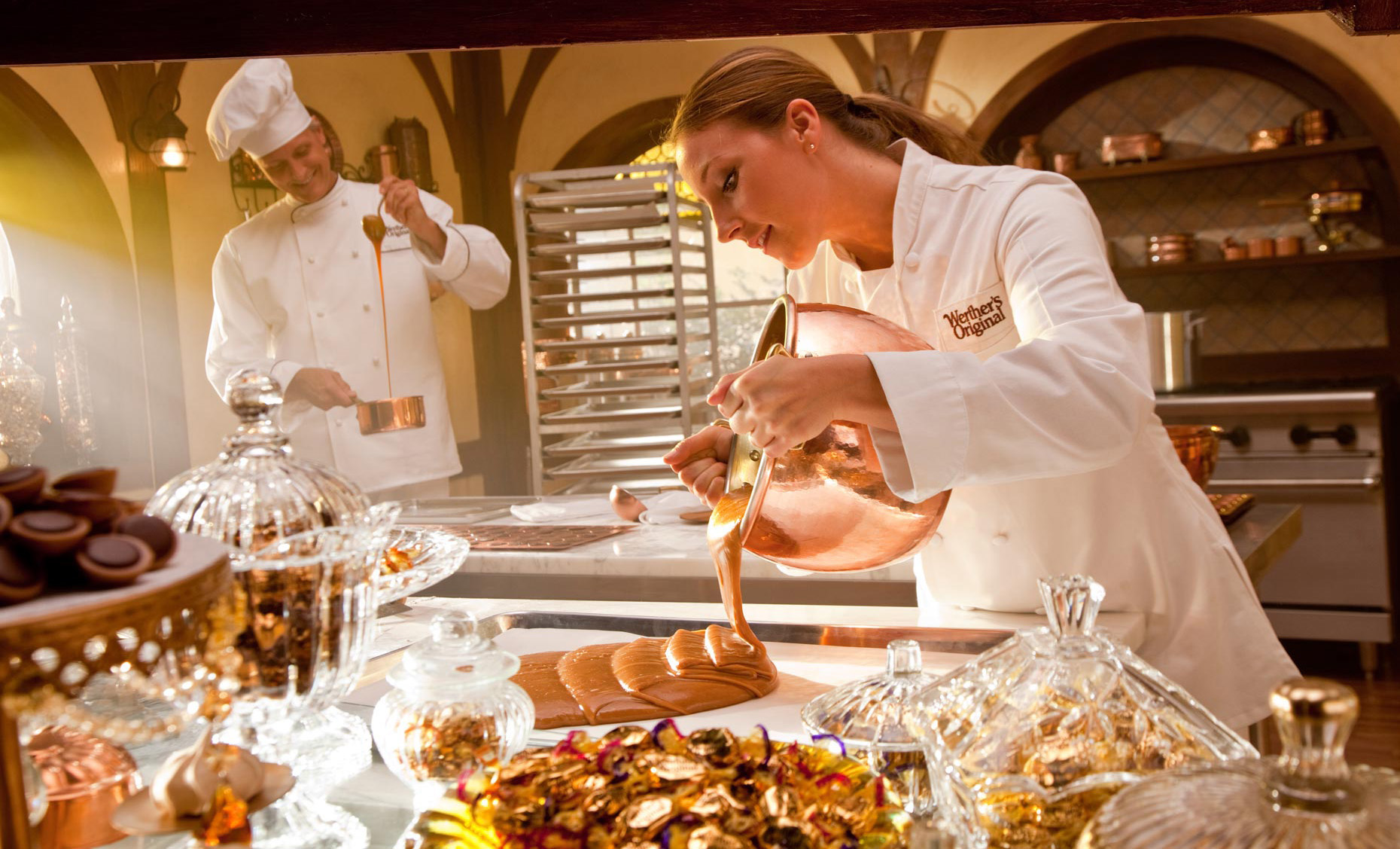 Lifestyle Photography | Chefs Making Werthers Candies