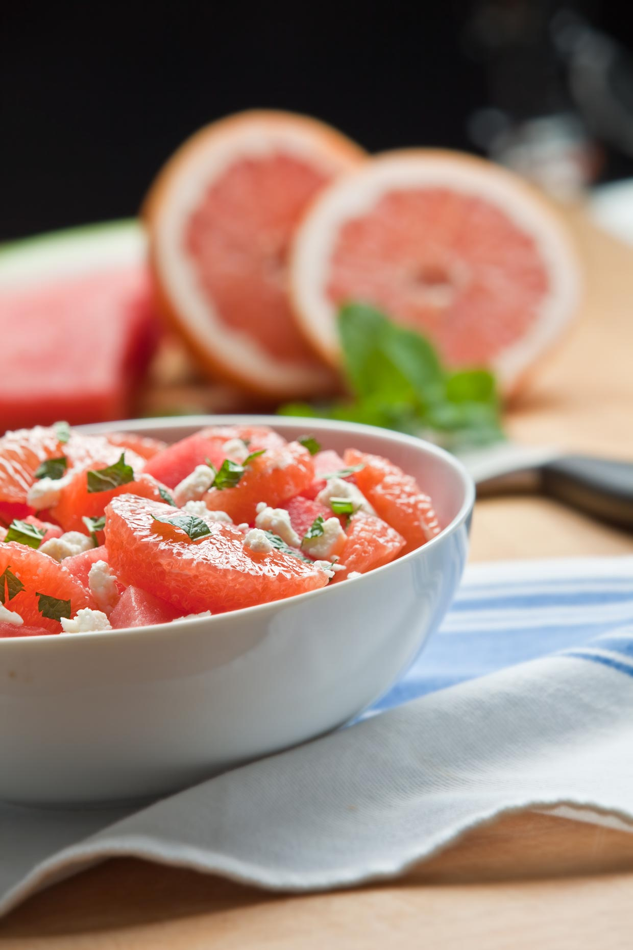 Food Photography | Grapefruit Salad