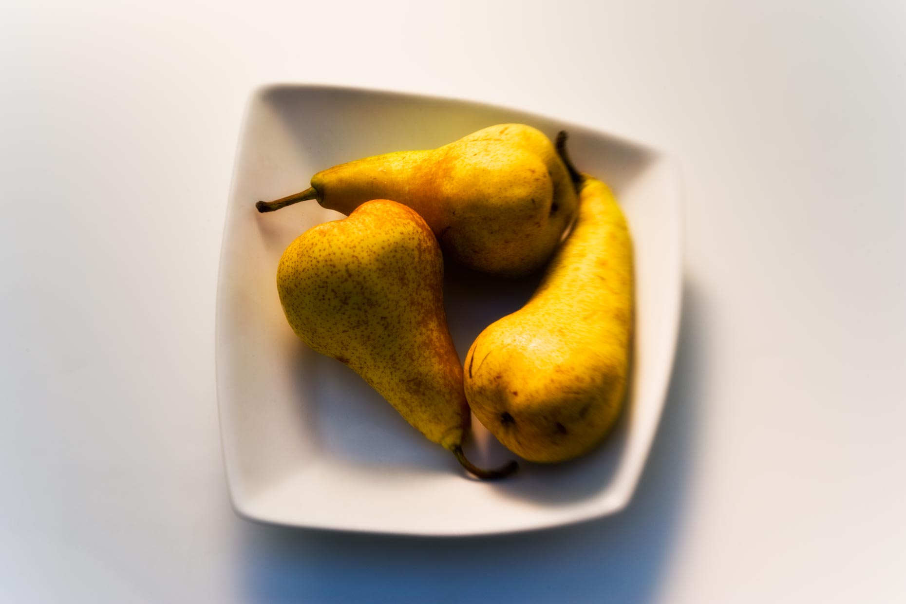 Dessert Photography | Pears in White Bowl