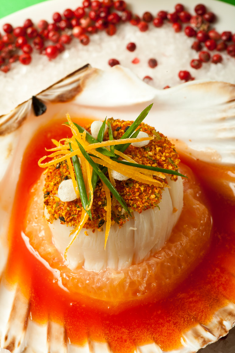 Food Photography | Scallop with Grapefruit