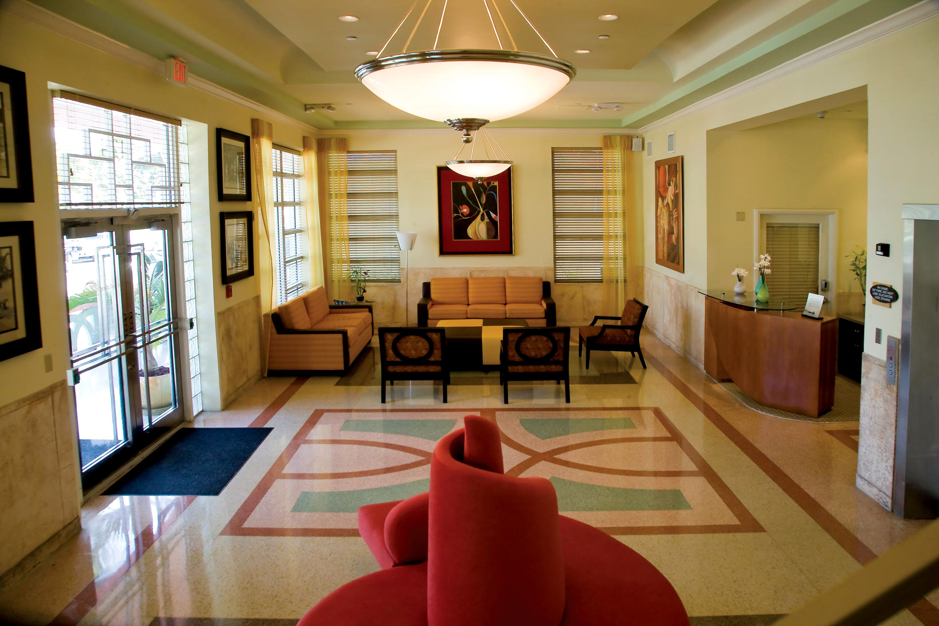 Hotel & Resort Photography | South Beach Hotel Lobby Interior