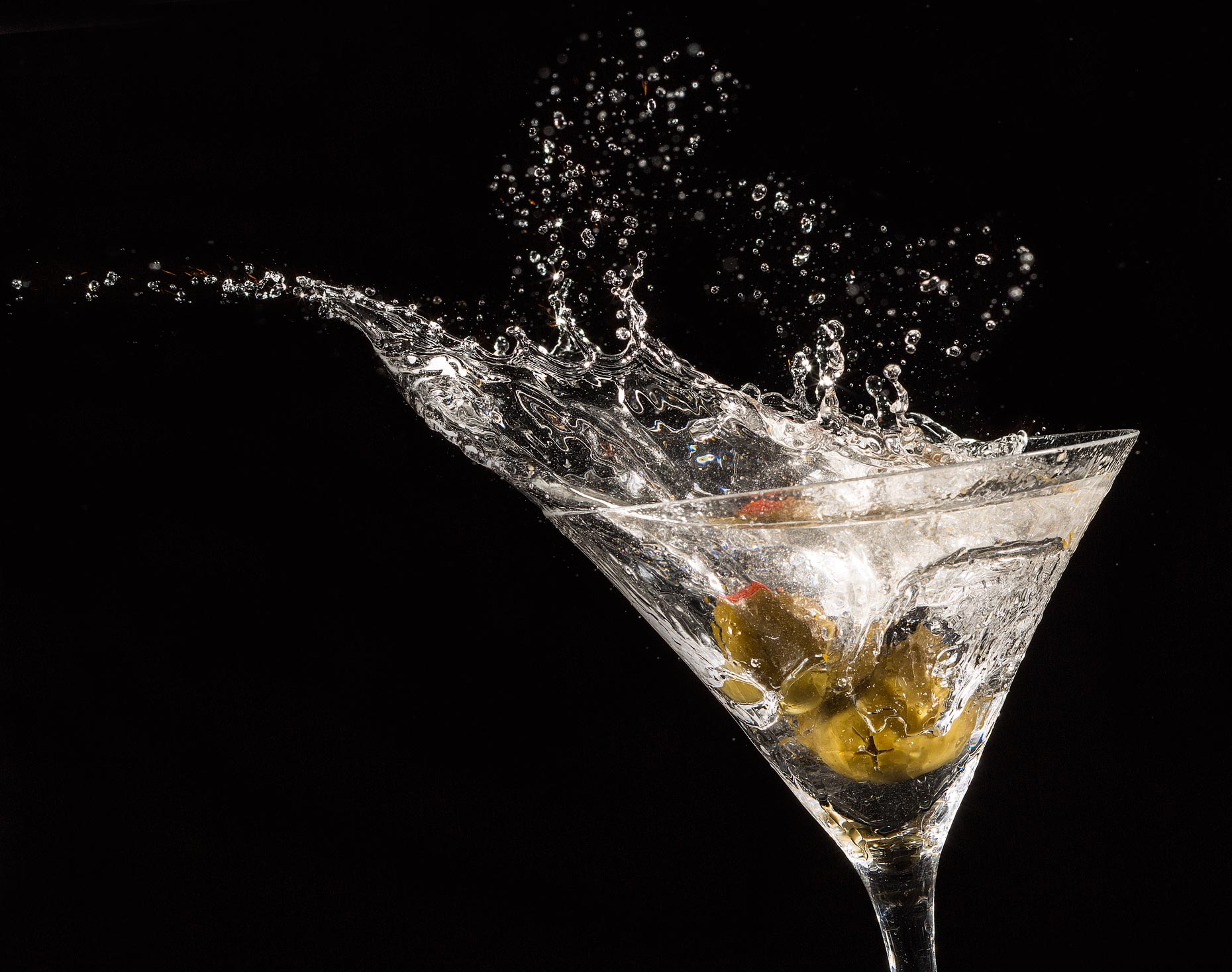 Beverage Photography| Martini Beverage Splash