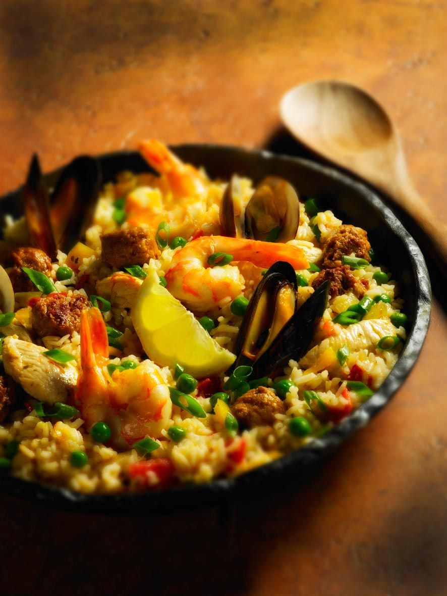 Food Photography | Paella  Florida Citrus Recipe Book