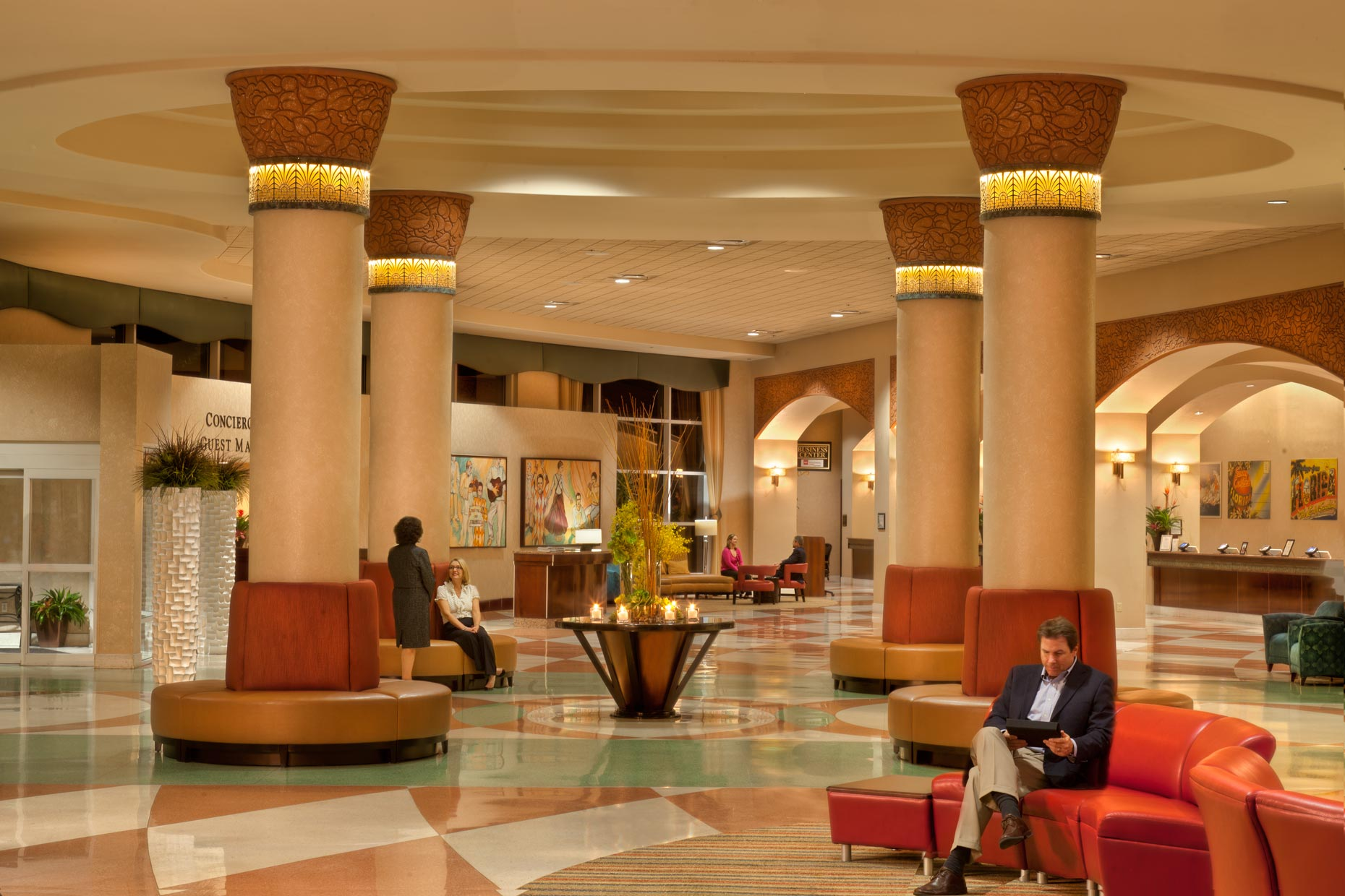 Hotel & Resort Photography | Rosen Center Hotel Lobby Orlando