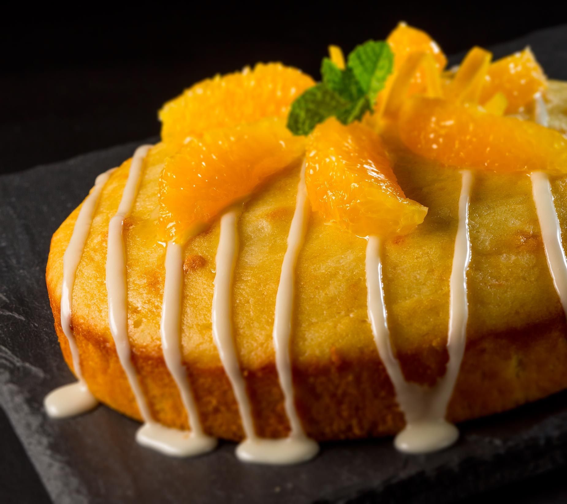 Dessert Photography | Orange Cake Dessert