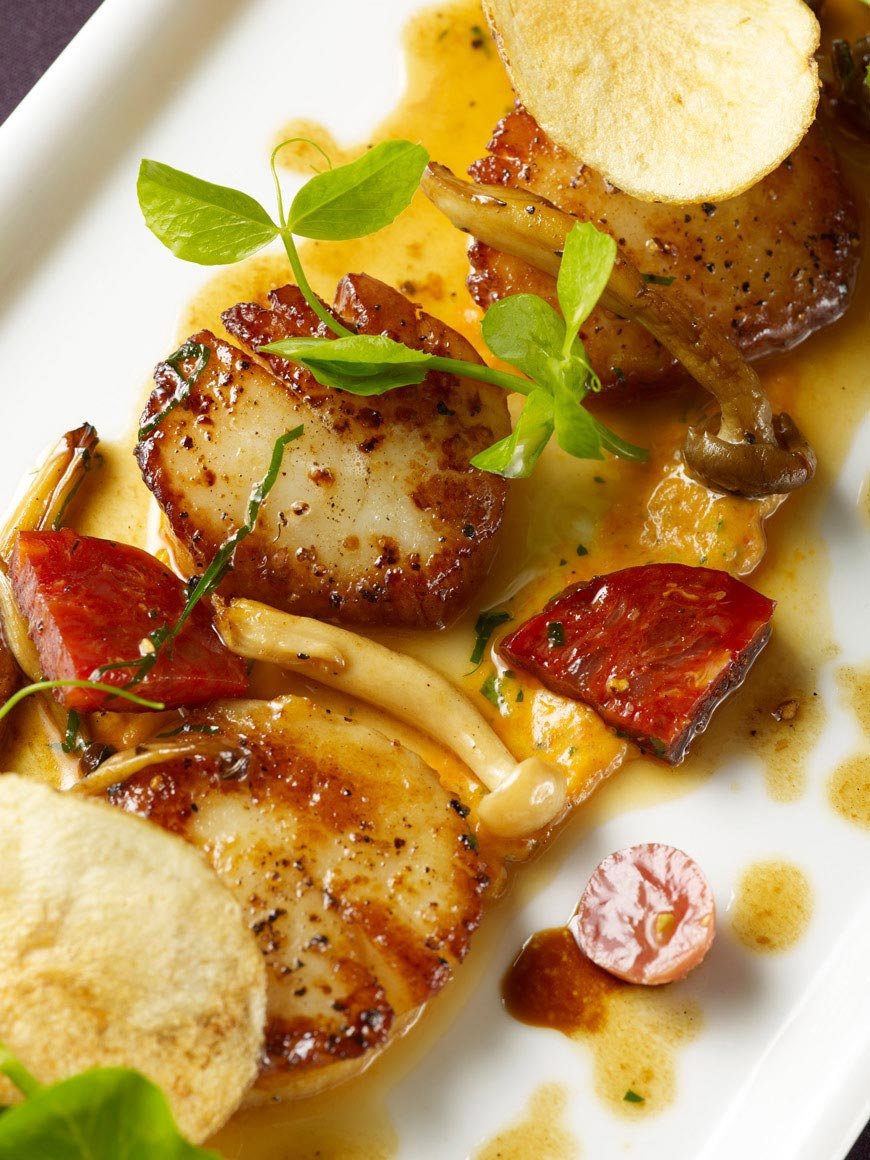 Scallops & Sausage | Food Photography