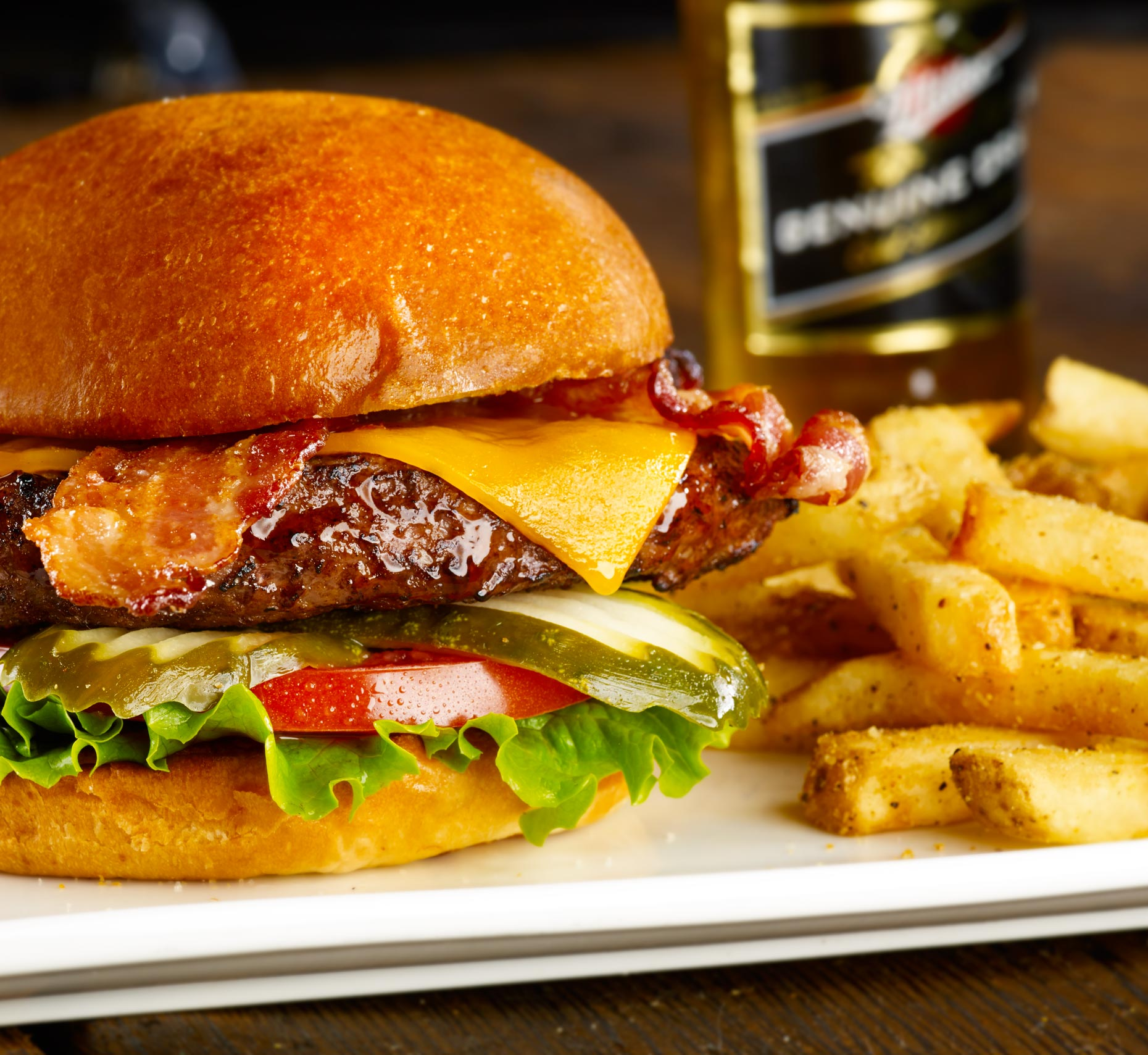 Food and Beverage Photography | Cheese Burger Millers Ale House