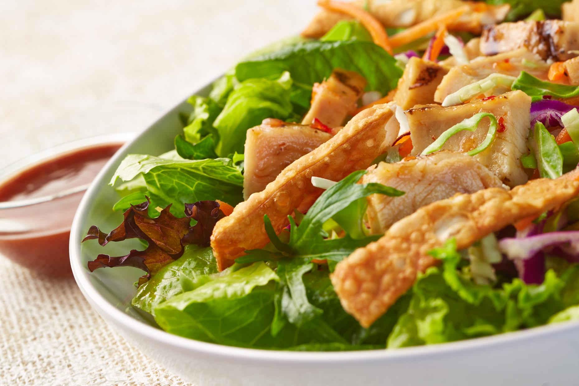 Food Photography | Chicken Wonton Salad