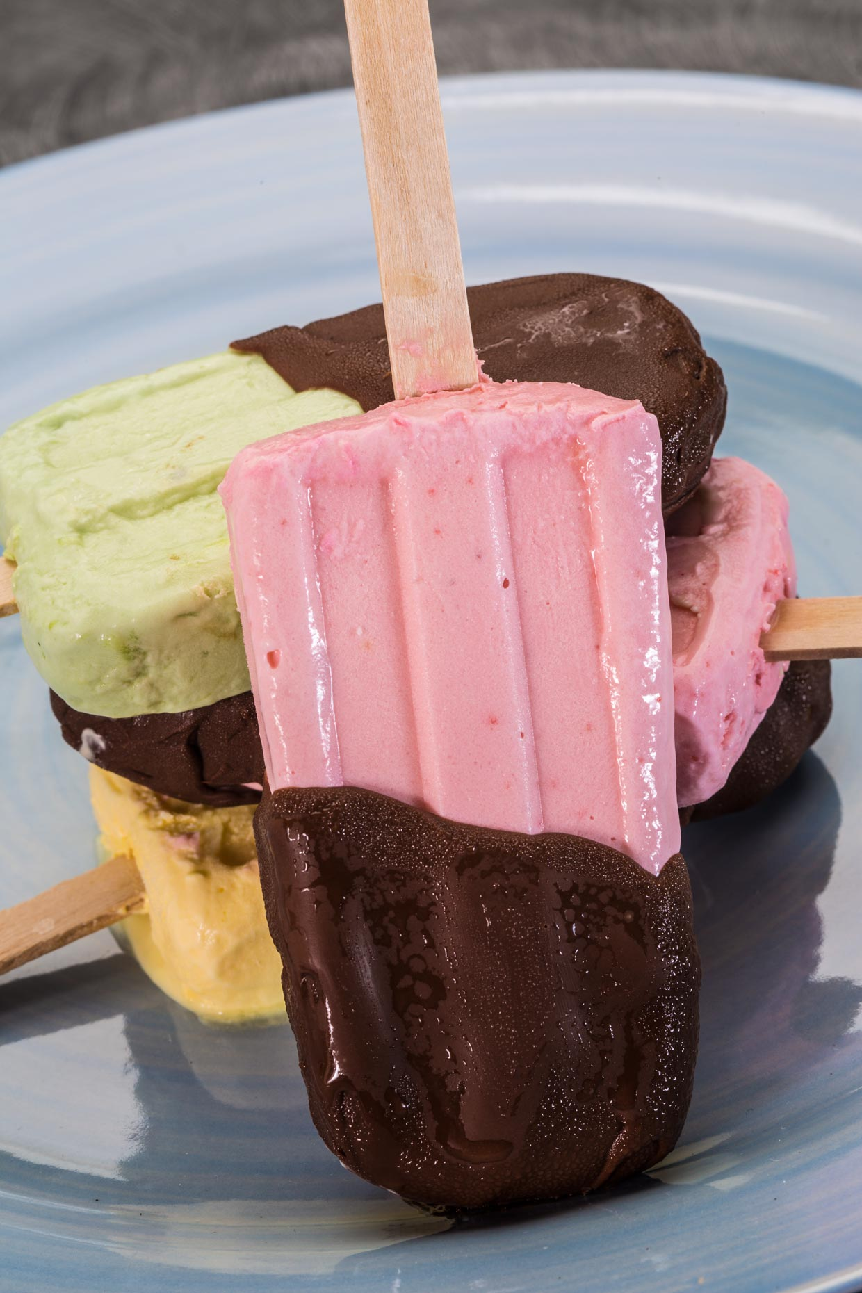 Dessert Photography | Chocolate Coated Ice Cream Bars