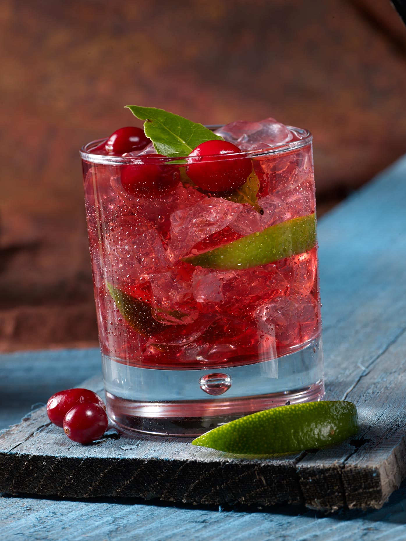 Beverage Photography | Cranberry Spritzer Cocktail