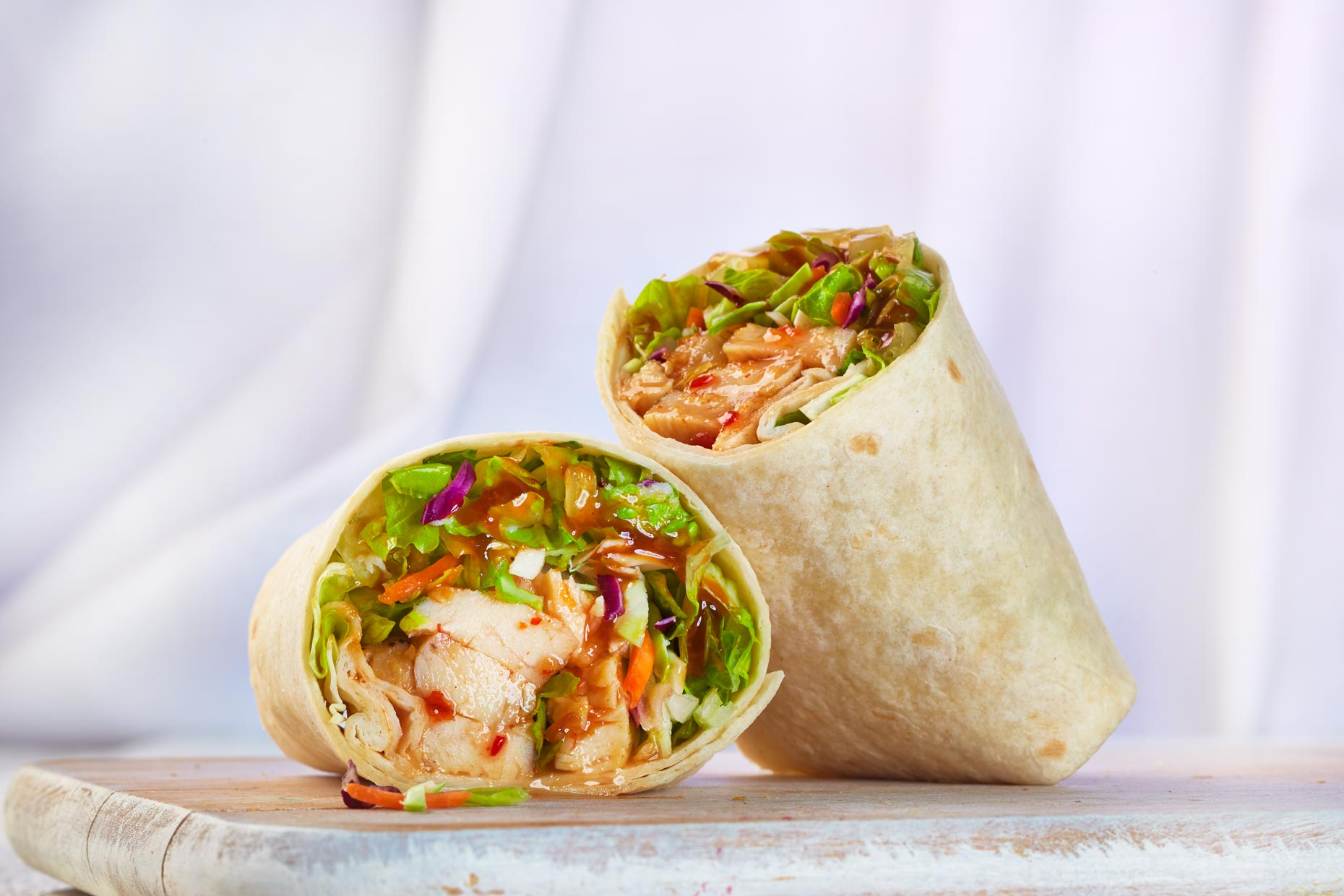Food Photography | Earl Of Sandwich Spicy Chicken Wrap