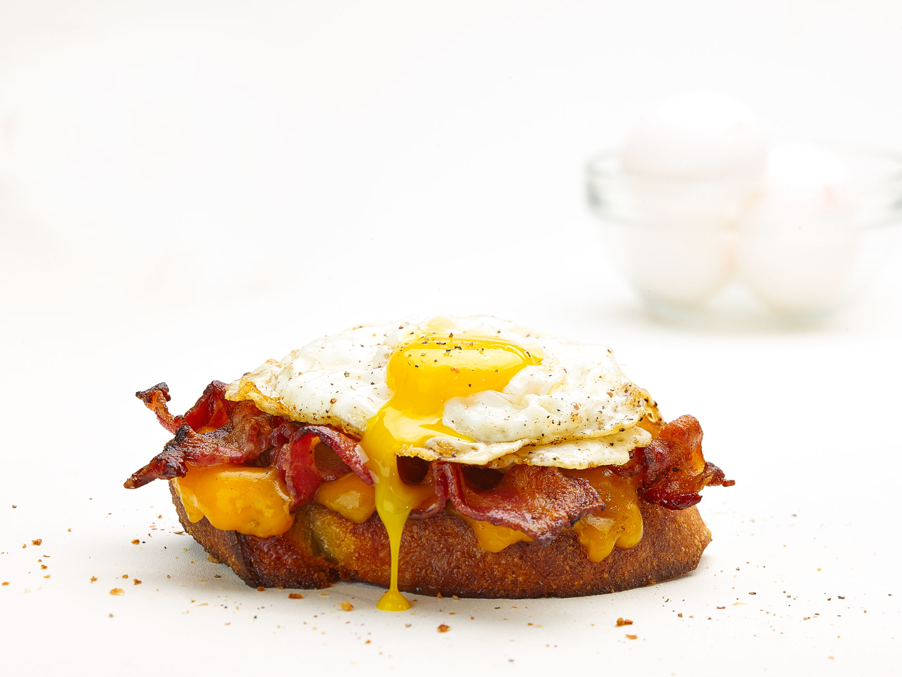 Food Photography | Egg Open Face Sandwich