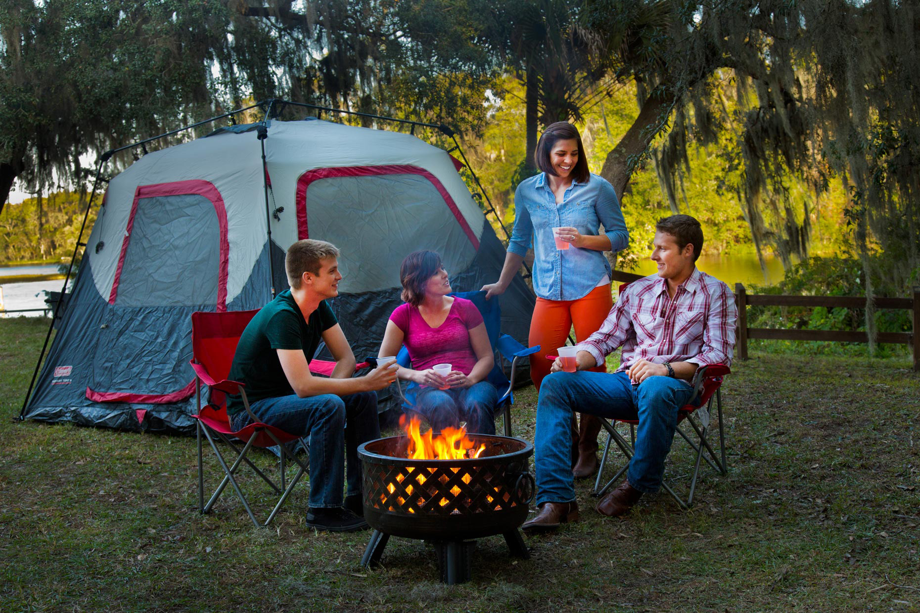 Lifestyle Photography | Camp Fire in Ocala