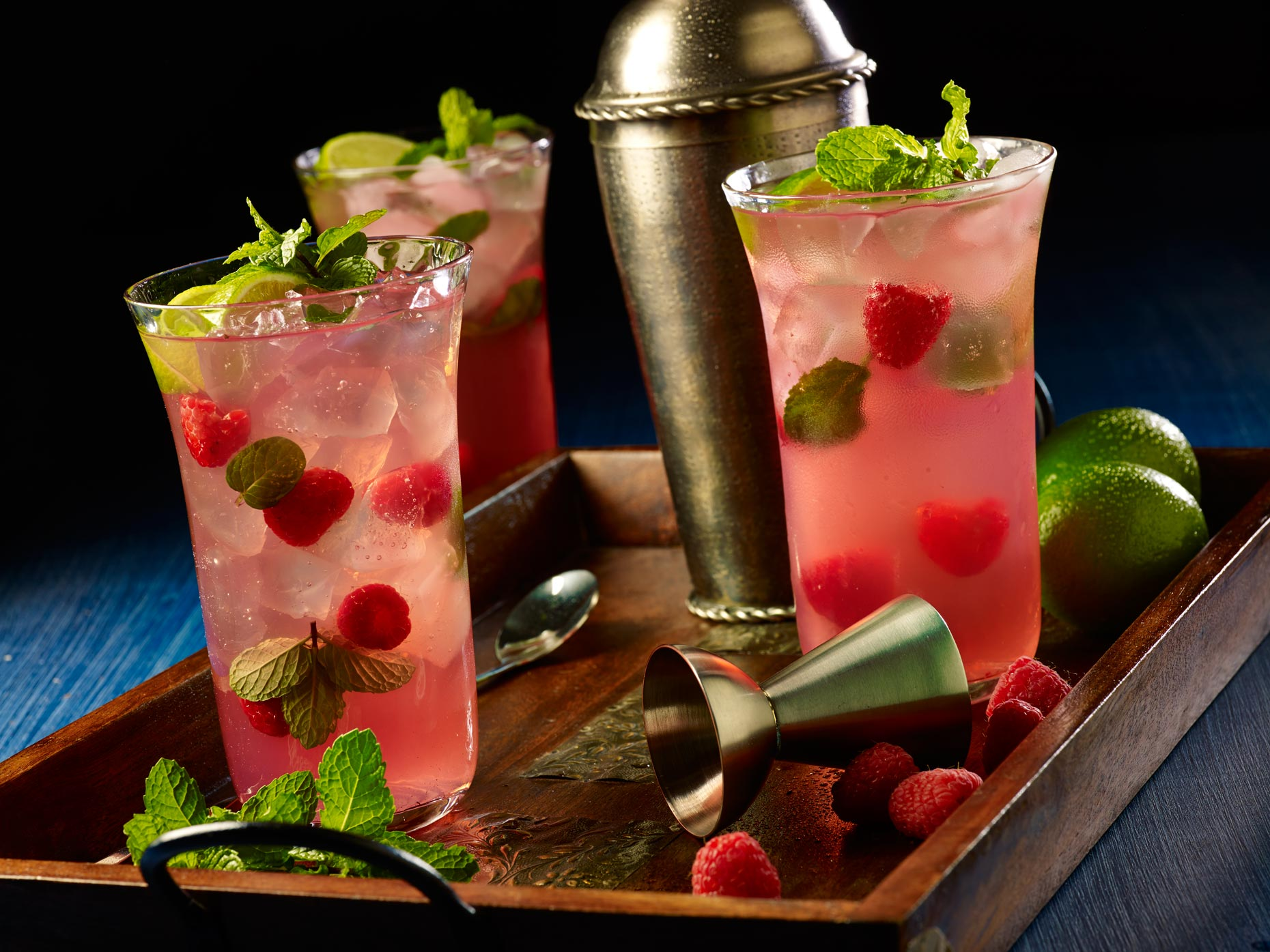 Beverage Photography | Rasberry Mojito