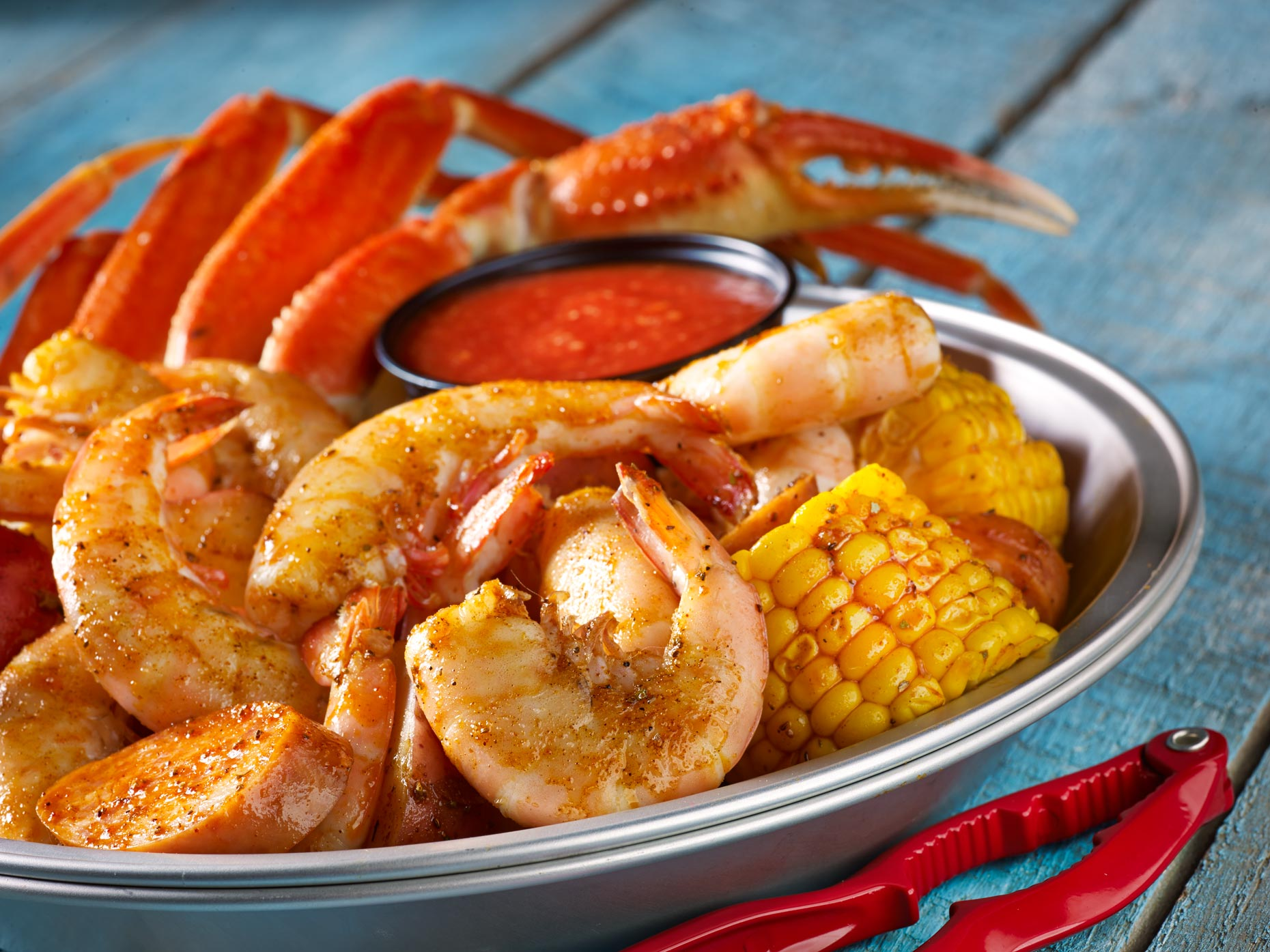 Food Photography | Shrimp, Crab & Corn