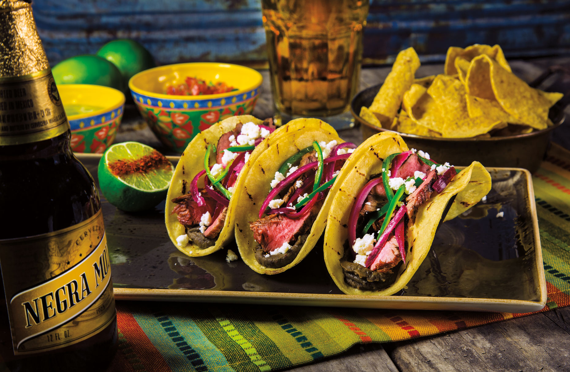 Food Photography | Mexican Taco Donner and Beer