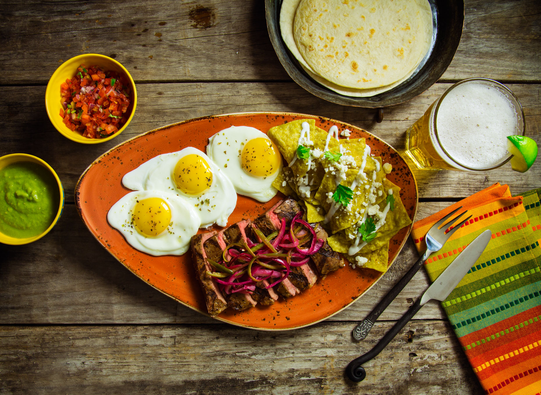 Food Photography | Mexican Steak and Egg Breakfast